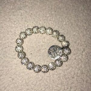 silver rustic cuff!